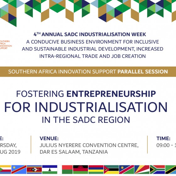 Fostering Entrepreneurship for Industrialisation in the SADC Region at SIW4